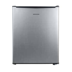 Amana 2.7 cu. ft. Mini Fridge Single Door Only in Stainless Steel Look. NEW for Sale in Plantation, FL