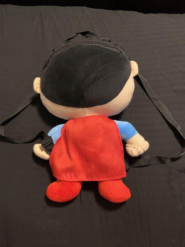 Superman plushie backpack