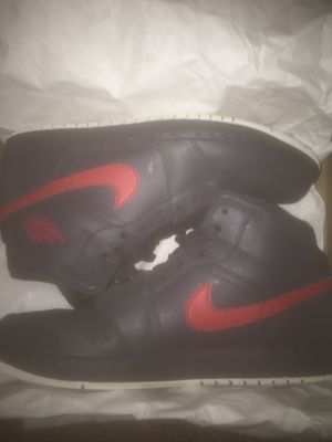 Red grey and white Retro air Jordan Nike 1's size 10 for Sale in Washington, DC