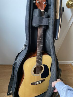 Guitar with cover for Sale in Chicago, IL
