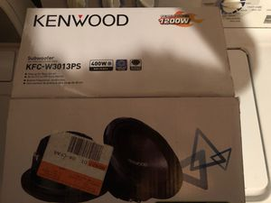 12' Kenwood Subwoofer with Kenwood Amp for Sale in Frederick, MD