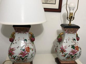 Chinese Porcelain Hand Painted Lamps for Sale in Dallas,  TX