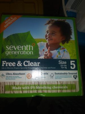 Seventh Generation Diapers Size 5 for Sale in Philadelphia, PA