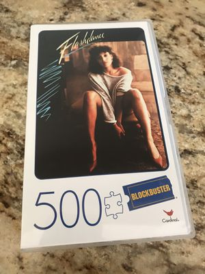 Blockbuster Cardinal Games Flashdance Puzzle 500 pc Jigsaw Movie Lovers Puzzle for Sale in Secaucus, NJ