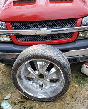 "24"" universal bolt pattern wheels and tires best offer for Sale in Centralia, WV"