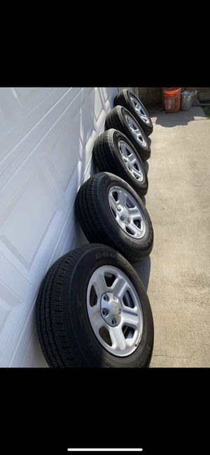 Jeep Rubicon Jeep wrangler wheels and tires brand new 225-75- 16 $525 for Sale in Glendora, CA