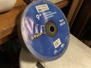 """9"""" metal grinding wheels 5pk for Sale in San Diego, CA"""