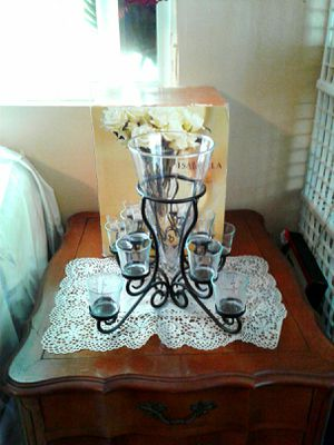 Brand new flower vase with tea light candle holder for Sale in Colton, CA
