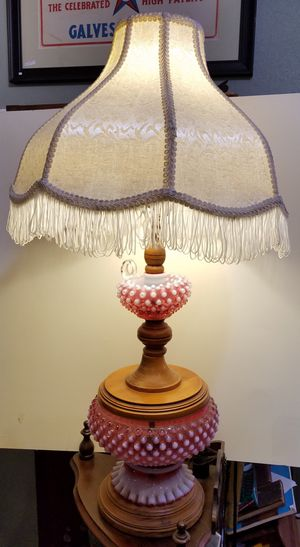 Fenton Cranberry Opalescent Hobnail Lamp for Sale in San Carlos, CA