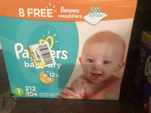 Pampers size 1 diapers 212 count $30 Firm for Sale in Phoenix, AZ
