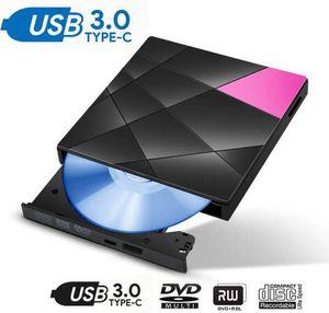 External CD DVD Drive with Type-c, USB 3.0 Portable External CD DVD Rewriter Burner Writer, High Speed Data Transfer External USB Optical Drives for for Sale in Pomona, CA