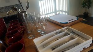 Dishes, plates, cups, silverware, etc for Sale in San Diego, CA