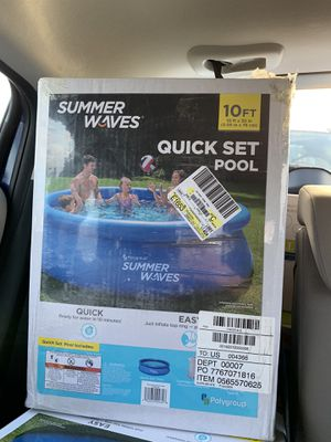 """Summer Waves 10'x30"""" Quick Set Inflatable Ring Above Ground Pool w/ Filter Pump for Sale in Boston, MA"""