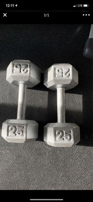 2x25lb dumbbells for Sale in Richmond, TX