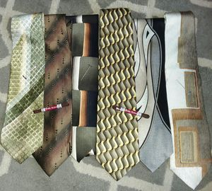 6 Vintage Designer Silk Ties - Bellissimo! for Sale in Wyandotte, MI