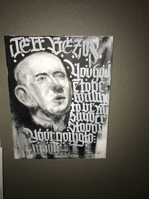 Calligraphy abstract portrait ART for Sale in Avondale, AZ
