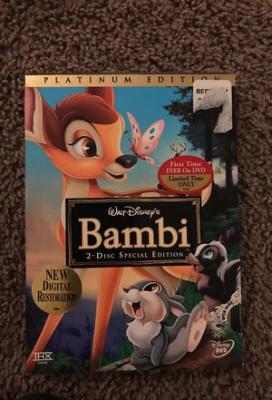 Platinum Edition Bambi Special Edition DVD for Sale in Las Vegas, NV
