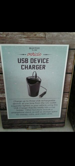 Free: Vehicle USB Device Charger (By Buxton) for Sale in Los Angeles, CA