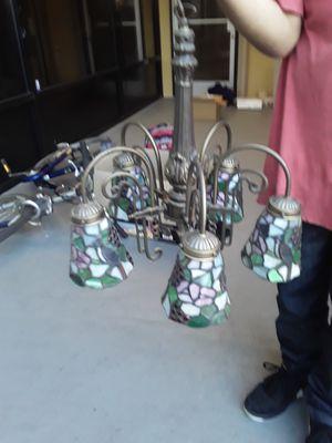 Stained glass brass GRAPE chandelier for Sale in Lodi, CA