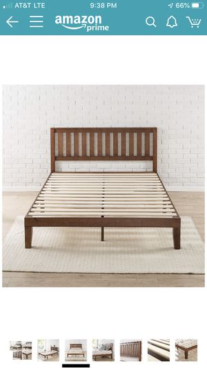 New!!!! Solid wood platform twin bed frame used to stage a home. for Sale in Pensacola, FL
