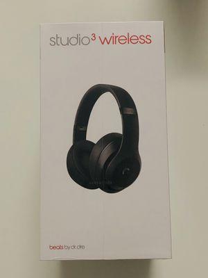 Beats Studio3 Wireless Noise Canceling Over-Ear Headphones - Matte Black for Sale in Hialeah, FL