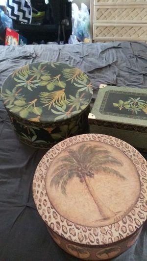 Decorative palm tree decore boxs for Sale in Fontana, CA