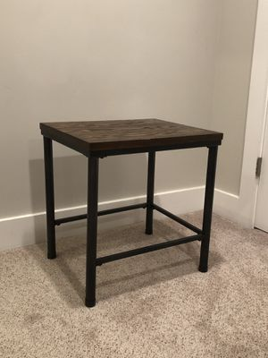 Wooden and Metal End Table for Sale in Alexandria, VA