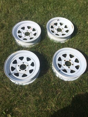 Trailer rims wheels 15x5JJ - four for Sale in New Cumberland, PA