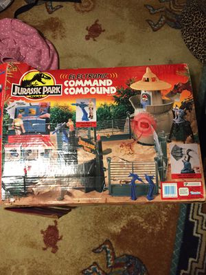 Kids jurassic park playset toy electronic command compound for Sale in Coral Springs, FL