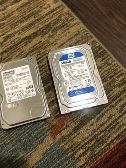 1TB and 500GB Hard Drive HDD For Desktop 🕵️‍♀️ Pick Up Only $25 For Both!!🤭 for Sale in Sanger,  CA
