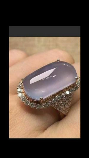 Purple moonstone filling stone stamped 925 and CZ ring size 8 for Sale in Richmond, CA