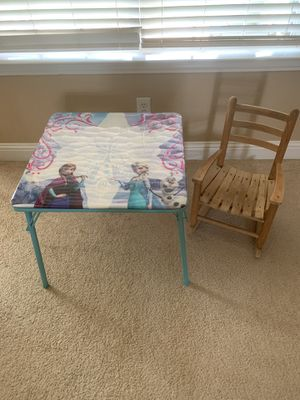 Kids folding table and rocking chair for Sale in Allen, TX