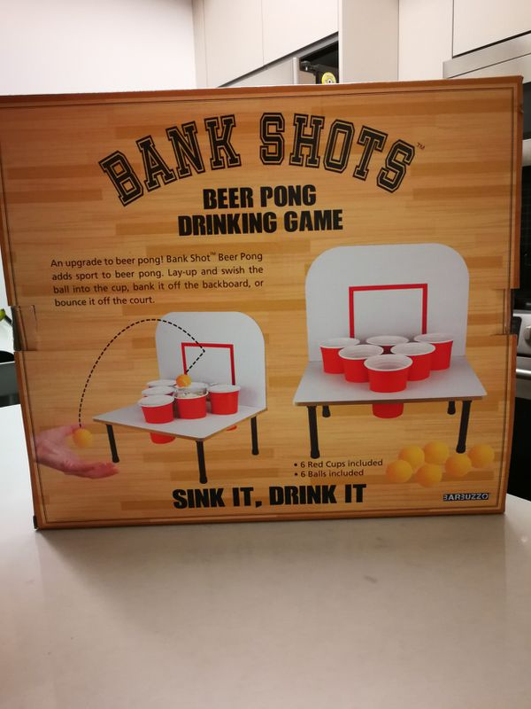 Bank Shots Beer Drinking Game