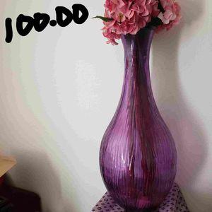 Tall Glass Flower Vase for Sale in Las Vegas, NV