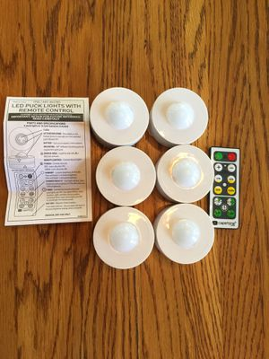 LED puck lights with remote for Sale in Herndon, VA