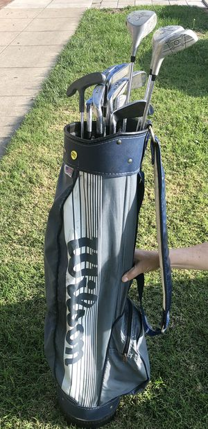 Wilson Golf Clubs and Carry Bag, etc. for Sale in Santa Monica, CA
