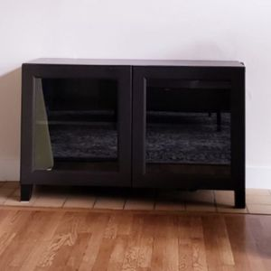 TV Storage Cabinet With Glass Doors for Sale in Mercer Island, WA