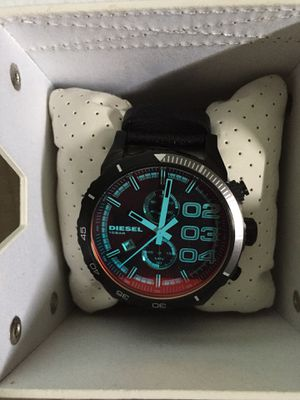 Diesel leather Stainless steel Watch for Sale in Fort Washington, MD