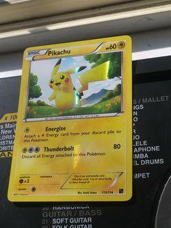 NM Pikachu SECRET RARE Pokémon (B&W Base Set) for Sale in Salt Lake City,  UT