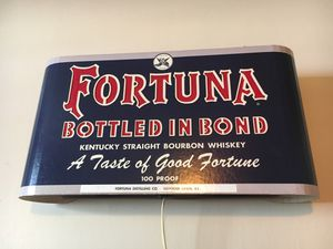 Antique fortuna whiskey light up sign for Sale in Tacoma, WA