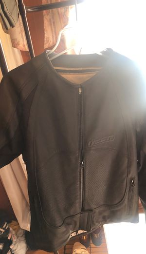 Icon Leather Female Motorcycle Jacket 2XL for Sale in Joppa, MD