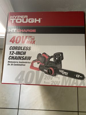"""Hyper thought 40v 12"""" cordless chainsaw for Sale in Orlando, FL"""