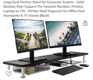 Dual Monitor Stand (White) for Sale in Los Angeles, CA