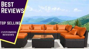 Outdoor Rattan Garden Wicker 7 Piece Sofa Set Patio Sectional Furniture Sofa Set for Sale in San Diego, CA
