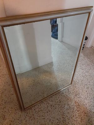 Antique bevel mirror with wood frame 30X40 size for Sale in Miami Beach, FL