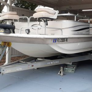 Deck Boat with 150 Yamaha + Twin Talons for Sale in Lake Wales, FL