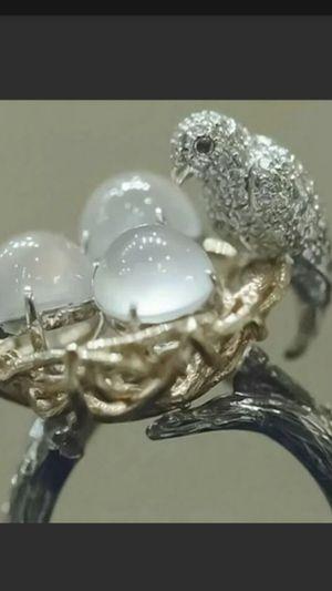 Size 6_9 Vintage 925 Silver Moonstone Bird Ring Men Women for Sale in Richmond, CA