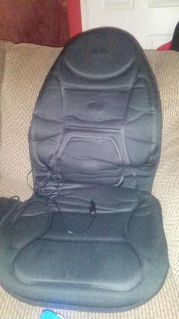 Car seat cover with heat an massage controls