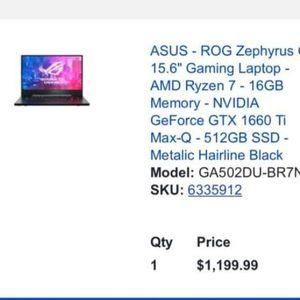 Asus Gaming Laptop. for Sale in Gardena, CA