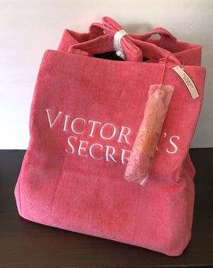 NWT - Victoria's Secret Pink Terry Cloth Tote Bag for Sale in MIDDLEBRG HTS, OH